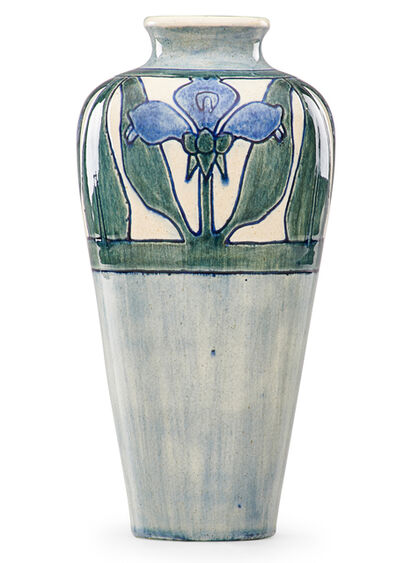 Newcomb College, 'Early vase with stylized blossoms', 1903