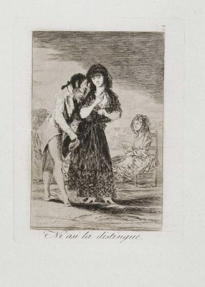 Francisco de Goya, 'Ni asi la Distingue', 1799