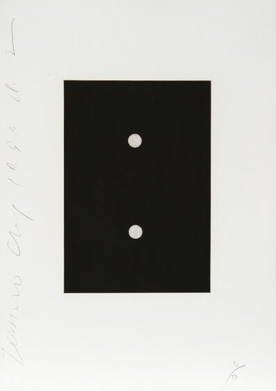 Donald Sultan, 'Dominoes Portfolio - 4', 1990