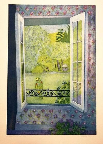 Ferdinand Oscar Finne, 'A parrot on the Window', 1981