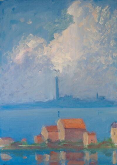 Paul Resika, 'Blue Town', 1993-1994