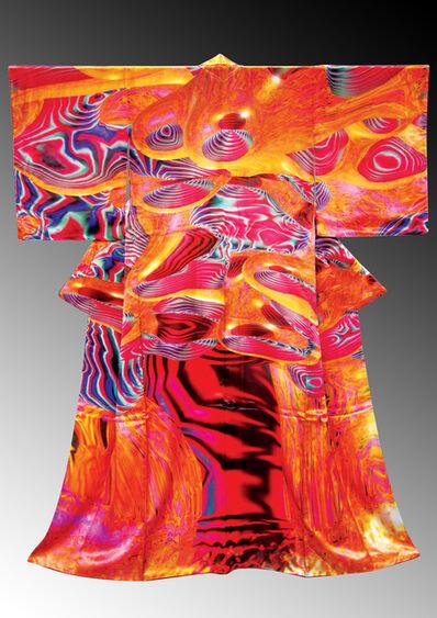 河口洋一郎Kawaguchi Yoichiro, '電腦和服誌CG Kimono_數位印刷、布料_Digital-print, Fabric_190 x 170 x 10 cm_', 2007