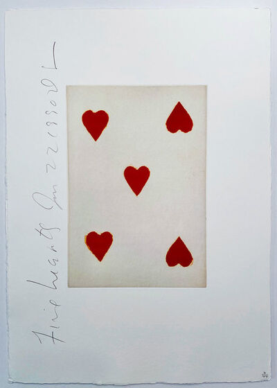 Donald Sultan, 'Playing Cards: Five of Hearts', 1990