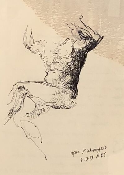 Julia Levitina, 'Study after Michelangelo'
