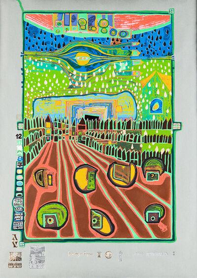 Friedensreich Hundertwasser, 'Street for Survivors', 1971-1972