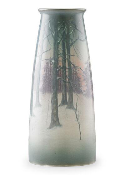 Edward T. Hurley, 'Large winter Scenic Vellum vase, Cincinnati, OH', 1915