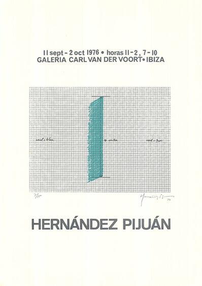 Joan Hernández Pijuan, 'Cartel de la exposición Galería Carl van der Voort, Ibiza', 1976