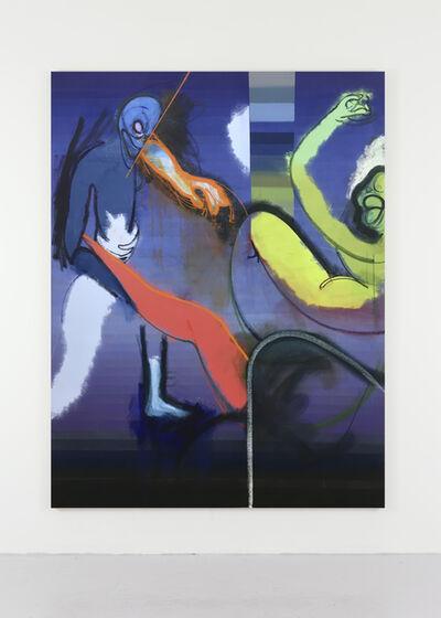 Daniel Richter, 'Gloriose Hirne!', 2017