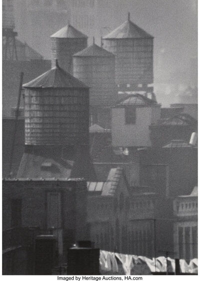 André Kertész, 'Water Towers and Laundry, New York', 1961