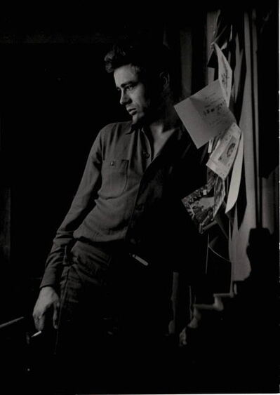 Roy Schatt, 'James Dean with Bulletin Board', 1954-Printed 1980s