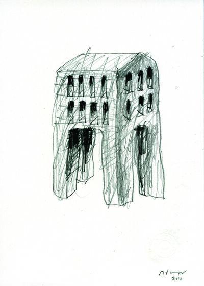 Michele de Lucchi, 'Schizzo per palafitta', 2014