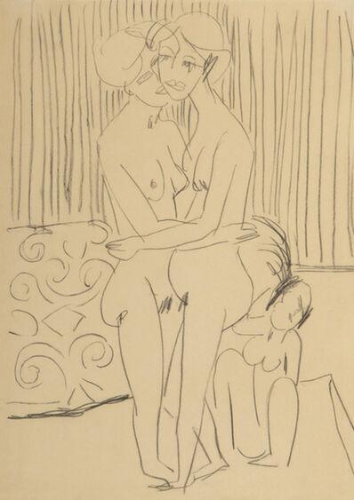Ernst Ludwig Kirchner, 'Deux femmes s'embrassant', ca. 1911