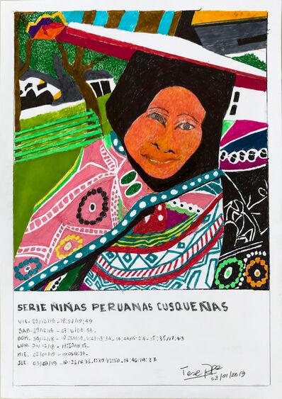 Teresa Burga, 'Serie niñas peruanas cusqueñas', 2019