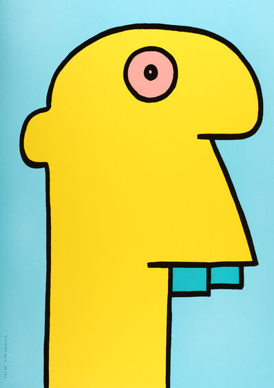 Thierry Noir, 'Yellow Head', 2015