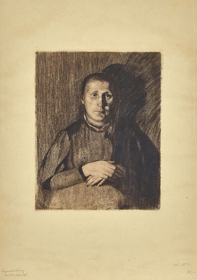 Käthe Kollwitz, 'Woman  with Crossed Hands ', 1898