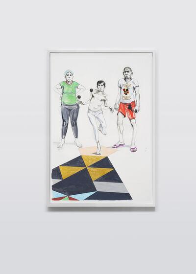 Charles Avery, 'Untitled (Three Ball Players)', 2018
