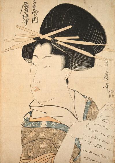 Kitagawa Utamaro, 'Courtesan Karakoto from Chojiya', ca. 1802