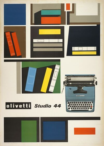 Giovanni Pintori, 'Olivetti Studio 44 poster', 1954