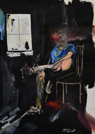 Stefano Genzone, 'Caged artist', 2019
