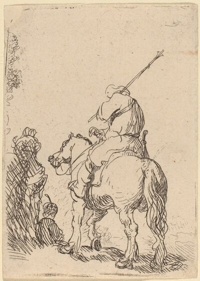 Rembrandt van Rijn, 'Turbaned Soldier on Horseback', ca. 1632