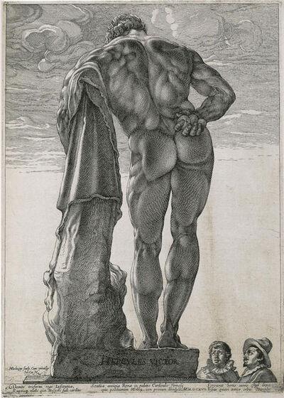 Hendrik Goltzius, 'Herkules Farnese', 1592