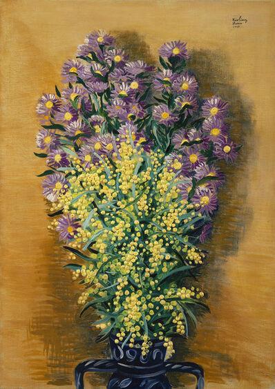 Moise Kisling, 'Dahlias et mimosas', 1947