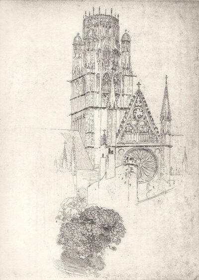 Arthur Streeton, 'French Cathedral (Rouen)', ca. 1910