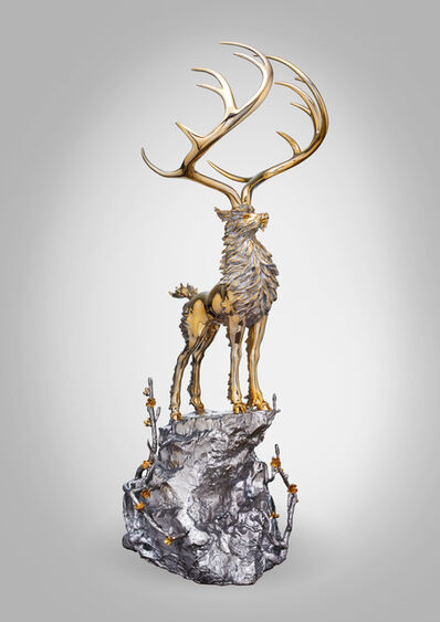 CHEN JING-QING 陳金慶, 'The Divine Deer Standing on the Peak 無住生香-玄鹿牧風雲', 2018
