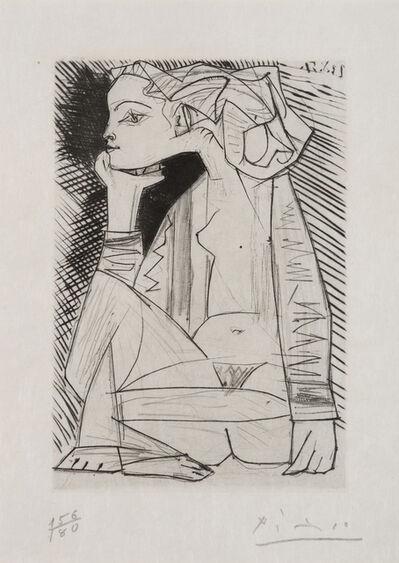 Pablo Picasso, 'Femme assise en tailleur, Geneviève Laporte', 1951