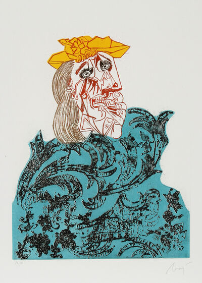 Enrico Baj, 'Portrait 1 from Baj Chez Picasso', 1969