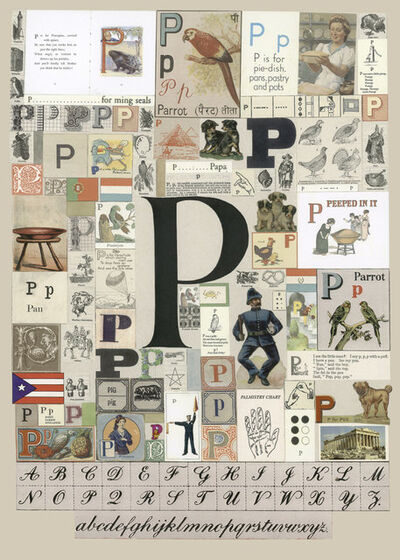 Peter Blake, 'The Letter P', 2007