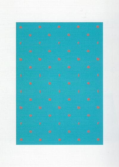 Ian Hamilton Finlay, 'Acrobats', 1968