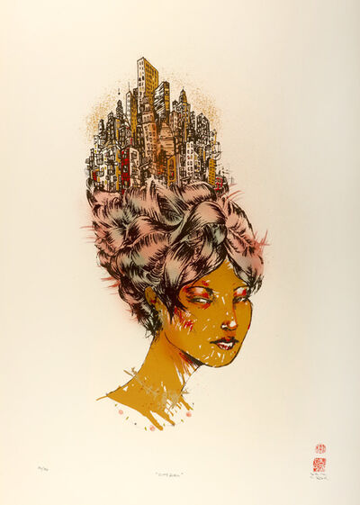 David Choe, 'City Girl', 2007