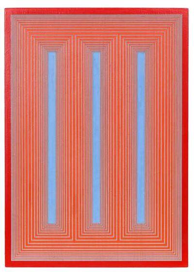 Richard Anuszkiewicz, 'Temple of Deep Blue & Cadmium #767', 1985