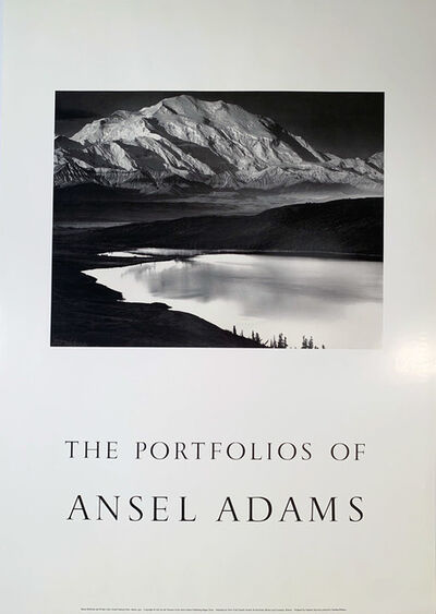 "Ansel Adams, 'The Portfolios of Ansel Adams, ""Winter Sunrise, Sierra Nevada, from Lone Pine"" Photographic Poster', 1983"