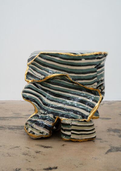 Katie Stout, 'Slab Stool (Wavy Blue)', 2020