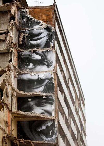JR, '28 Millimètres, Portrait d'une génération, B11, Destruction #9, Montfermeil, France', 2013
