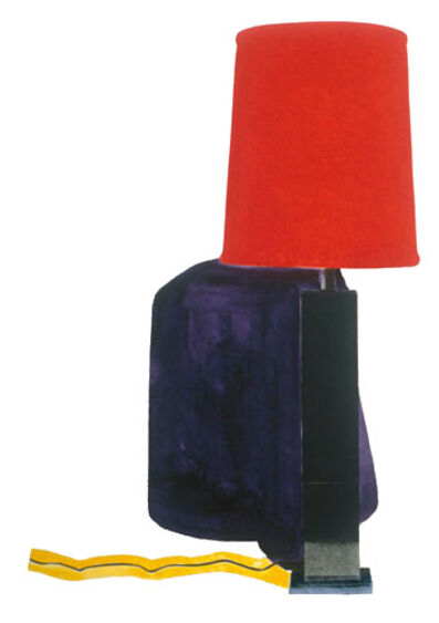 John Baldessari, 'Table Lamp and its Shadow A & G', 1994