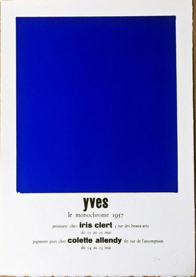 Yves Klein, 'Peintures Chez Iris Clert (Certified by Yves Klein Archives)', 2015