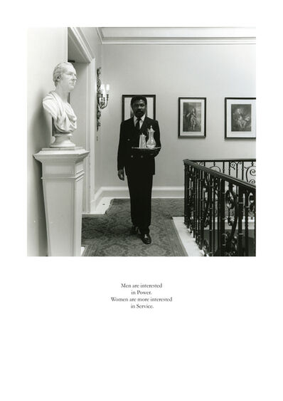 Karen Knorr, 'Men are interested in Power. Women are more interested in Service', 1981-1983