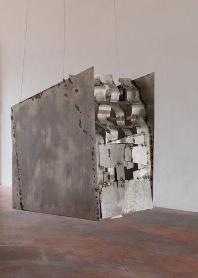 Tiril Hasselknippe, 'Balcony (scudi e lance)', 2016