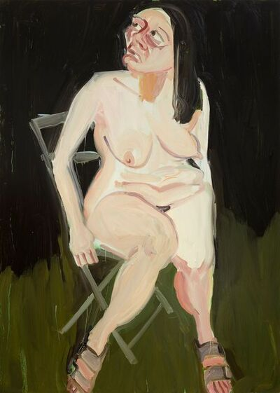 Chantal Joffe, 'Self-Portrait in the Garden at Night', 2016