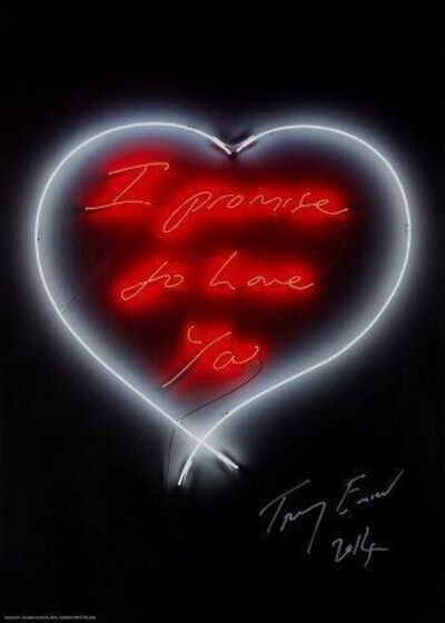 Tracey Emin, 'I Promise to Love You', 2014