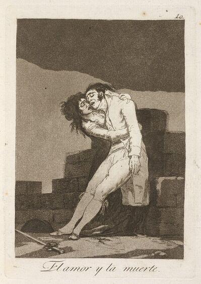 Francisco de Goya, 'El amour y la muerte (Love and Death)', published 1799