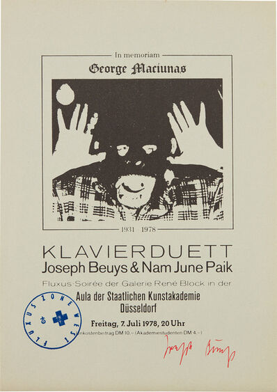 Joseph Beuys, 'In Memoriam George Maciunas', 1978