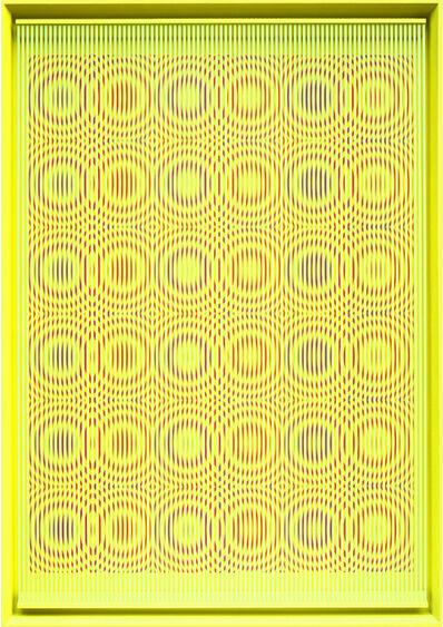 Alberto Biasi, 'Yellow rain', 2014