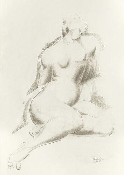 Alexander Archipenko, 'Sitzender Frauenakt'