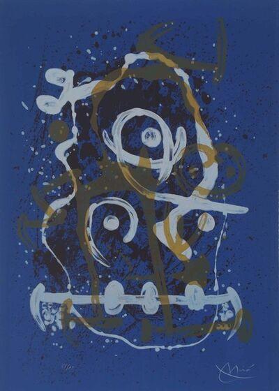 Joan Miró, 'Chevauchèe bleu brun', 1969
