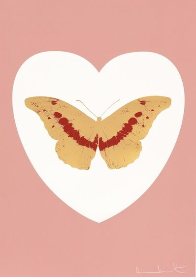 Damien Hirst, 'I Love You - white, pink, cool gold, poppy red', 2015