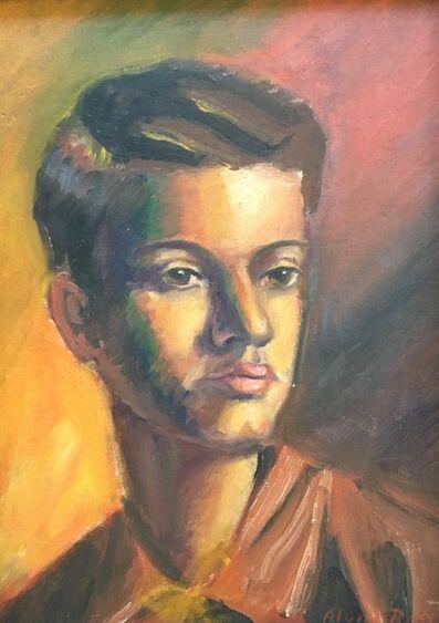 Alvin Ross, 'Self Portrait in Orange', 1937